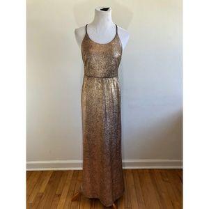 NWT F21 Rose Gold Maxi Dress {LB}